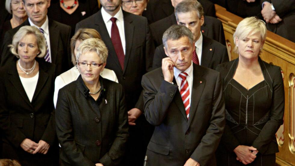 AVSLØRES: USAs syn på flere norske regjeringsmedlemmer. Jens Stoltenberg beskrives som «ikke en sterk ideolog eller leder». Foto: Lars Eivind Bones / Dagbladet.
