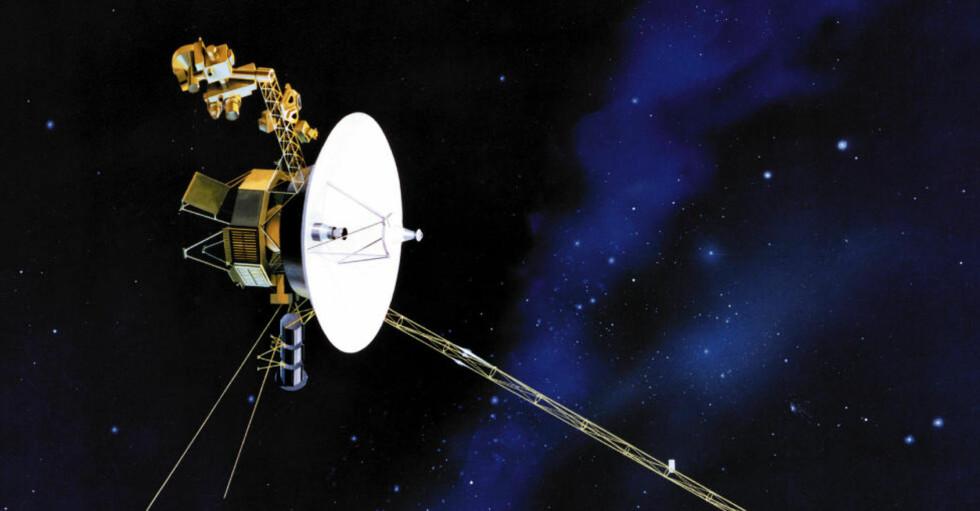 I FERD MED Å BRYTE NY BARRIERE: 14,4 milliarder kilometer fra jorden er Voyager 1 igjen i ferd med å nå en ny milepæl. Foto: NASA
