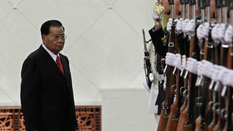 INVESTERER I MILITÆRDIKTATUR: General Than Shwe og juntaen i Burma kan nyte godt av norske oljepenger. Foto: REUTERS/Petar Kujundzic/Scanpix