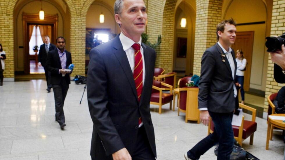 TIL USA:  Statsminister Jens Stoltenberg skal ha spurt fire ganger om å få komme til Det hvite hus.Foto: Heiko Junge / Scanpix