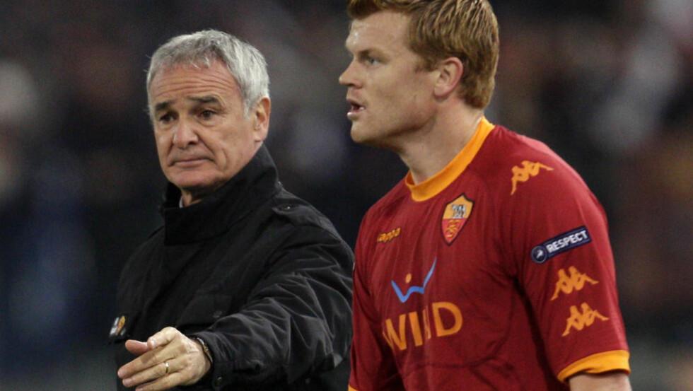 I TRENING: Roma-trener Claudio Ranieri har trolig sin norske venstreback John Arne Riise disponibel på lørdag. Foto: Andrew Medichini, AP/Scanpix