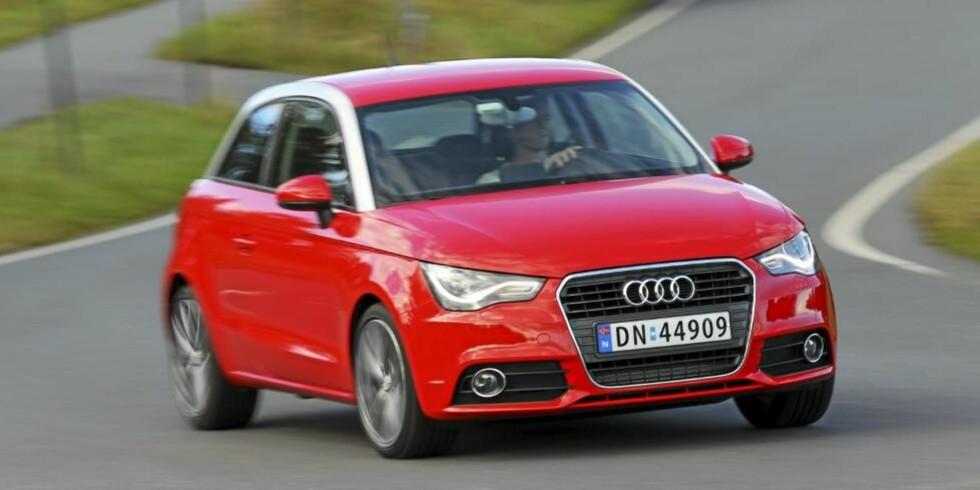 SPORTSLIG: Vi lot oss imponere av Audi A1. Den ser tøff ut og har gode motorer og kjøreegenskaper. Foto:Terje Bjørnsen