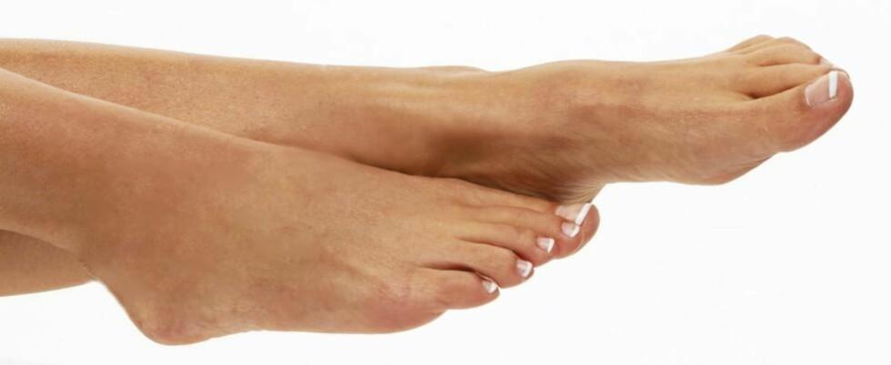 VINTER: Om du steller føttene dine i vinter, slipper du typiske plager som hard hud, fotsopp og vorter. Illustrasjonsfoto: www.colourbox.com