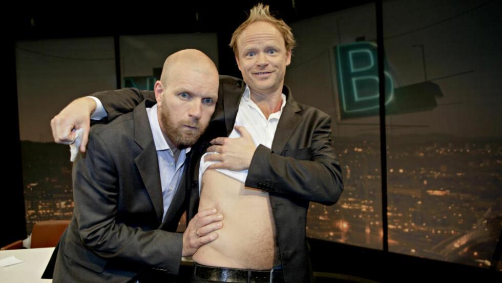 ETTERTRAKTET: Harald Eia og Bård Tufte Johansen kan forlate NRK etter at kanalen ikke ville benytte seg av opsjonen på flere programmer av «Storbynatt». Foto: Lars Eivind Bones / Dagbladet