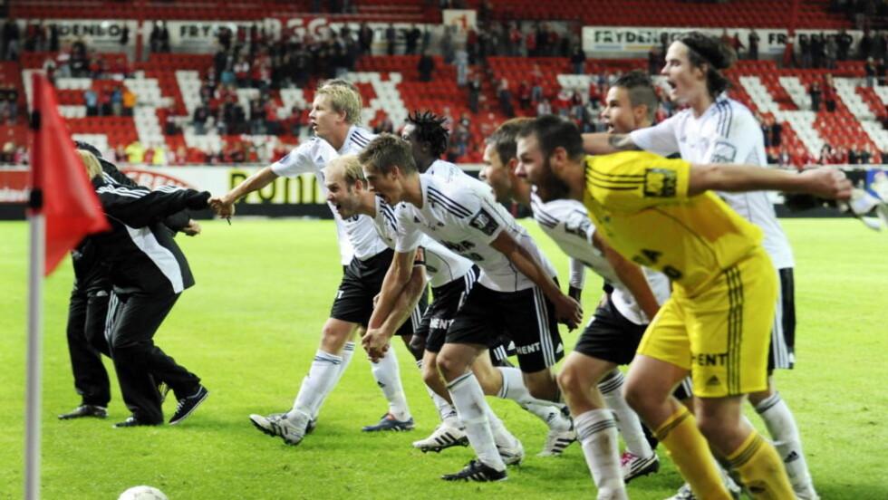TV-VINNERE: Rosenborg kan juble for en seier når det gjelder utdeling av midler fra TV-avtalen. Foto: Marit Hommedal / Scanpix