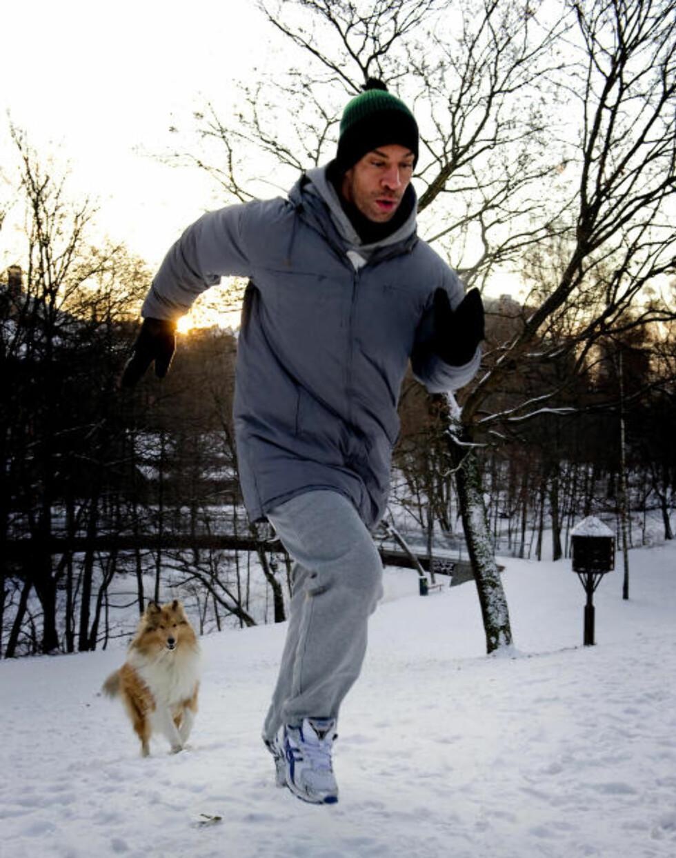 TEST DEG SELV: Før du begynner å trene i januar, test egen form. Spring 1 km... Foto: Øistein Norum Monsen