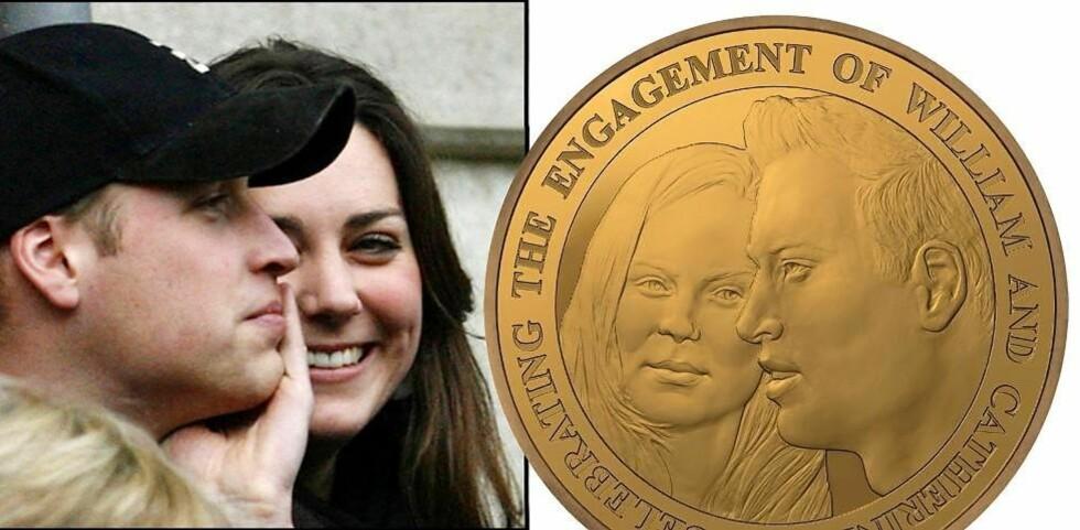 HVEM ER DET PÅ MYNTEN?: Ifølge britiske royalister kan det iallefall ikke være deres neste dronning, Kate Middleton - for likeheten; den er ikke-eksisterende. Foto: Scanpix