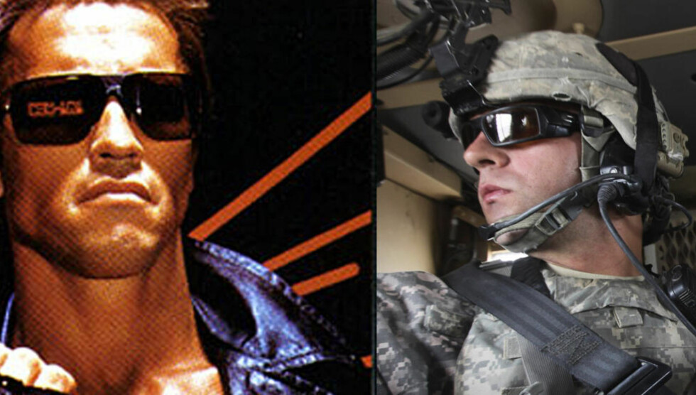 FREMTIDEN ER HER: Nok et dilemma for fiendlige styrker: Terninator-briller på amerikanske neserygger. FOTO: Scanpix