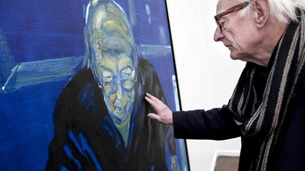 ARNE NORDHEIM: Et portrett av vennen og komponisten Arne Nordheim var blant maleriene som ble stjålet. Foto: Ole Morten Melgård / Dagbladet Foto: Ole Morten Melgård / Dagbladet