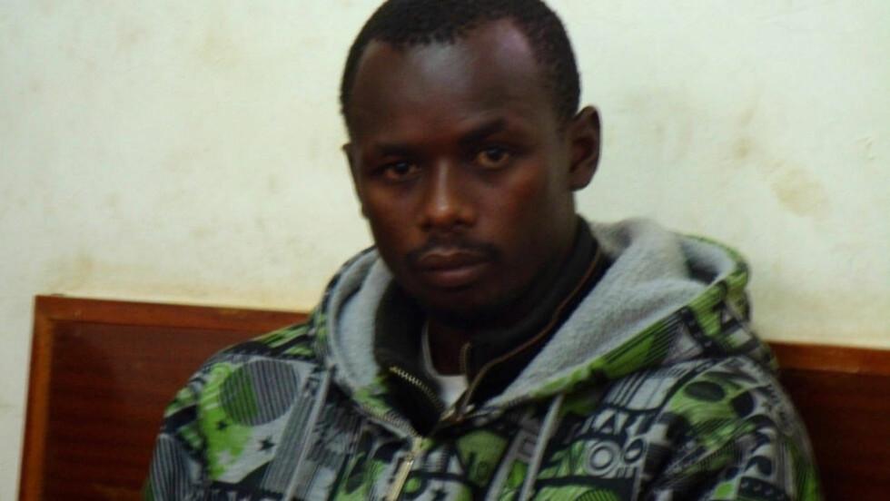 SIKTET: Gullvinner Samwel Wanjiru fotografert i rettslokalet i Kenya, etter å ha blitt siktet for drapsforsøk på kona. Foto: REUTERS/Stringer