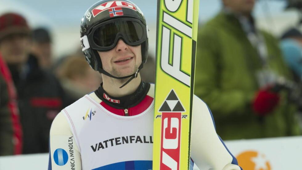 FJERDE: Anders Jacobsen ble nummer fire i lørdagens kvalifisering til nyttårsrennet i Garmisch-Partenkirchen. Foto: Scanpix .      Foto: Terje Bendiksby / Scanpix
