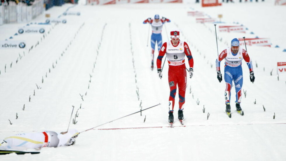 FJERDEPLASS: Simen Østensen viste gamle, gode taker under dagens sprint i Oberstdorf.   Foto: Gorm Kallestad / Scanpix