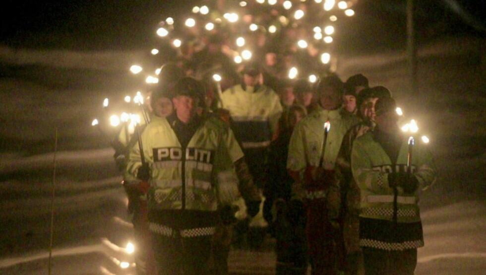 MINNE: Arrangementet i Stokke kommune mintes skadde og drepte i trafikken i 2010. Foto: Kyrre Lien / Scanpix.