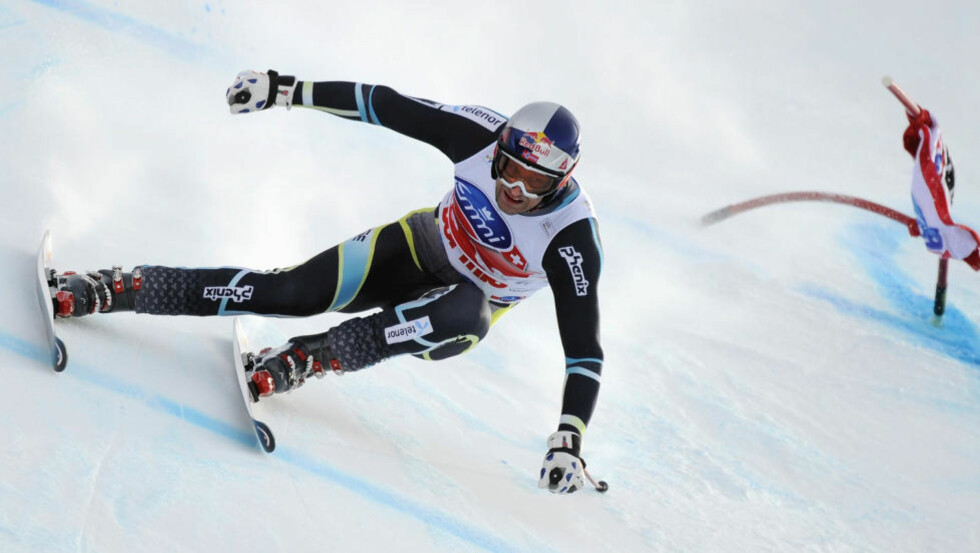 ENESTE NORSKE: Aksel Lund Svindal var Norges eneste representant i Bormio i romjula. Foto: Olivier Morin, AFP/Scanpix