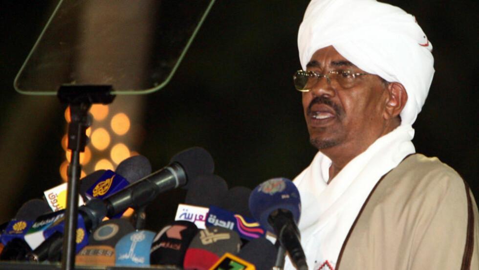 ANKLAGES: Sudans president Omar al-Bashir. Foto: PHILIP DHIL/EPA/SCANPIX