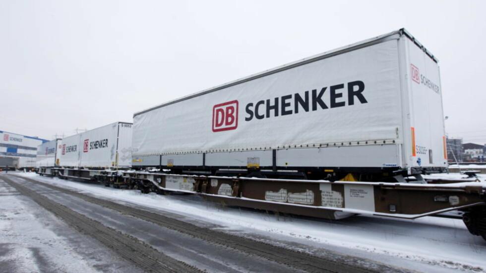 NYTT TILBUD: DB Schenker knytter Oslo og Narvik sammen med et nytt tilbud med jernbanen. Fem dager i uken vil det gå et godstog tur retur Oslo-Narvik. Foto: Morten Holm / Scanpix