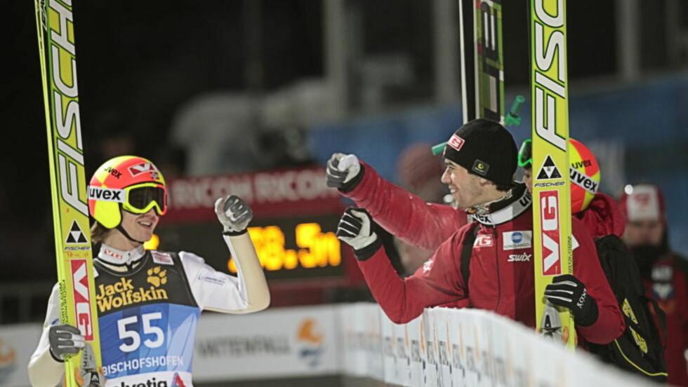BEST IGJEN: Tom Hilde vant kvalifiseringen til morgendagens avslutningsrenn i hoppuka i Bischofshofen. Det var tredje gang på rad askerbøringen var best i kvaliken.Foto: Terje Bendiksby / Scanpix