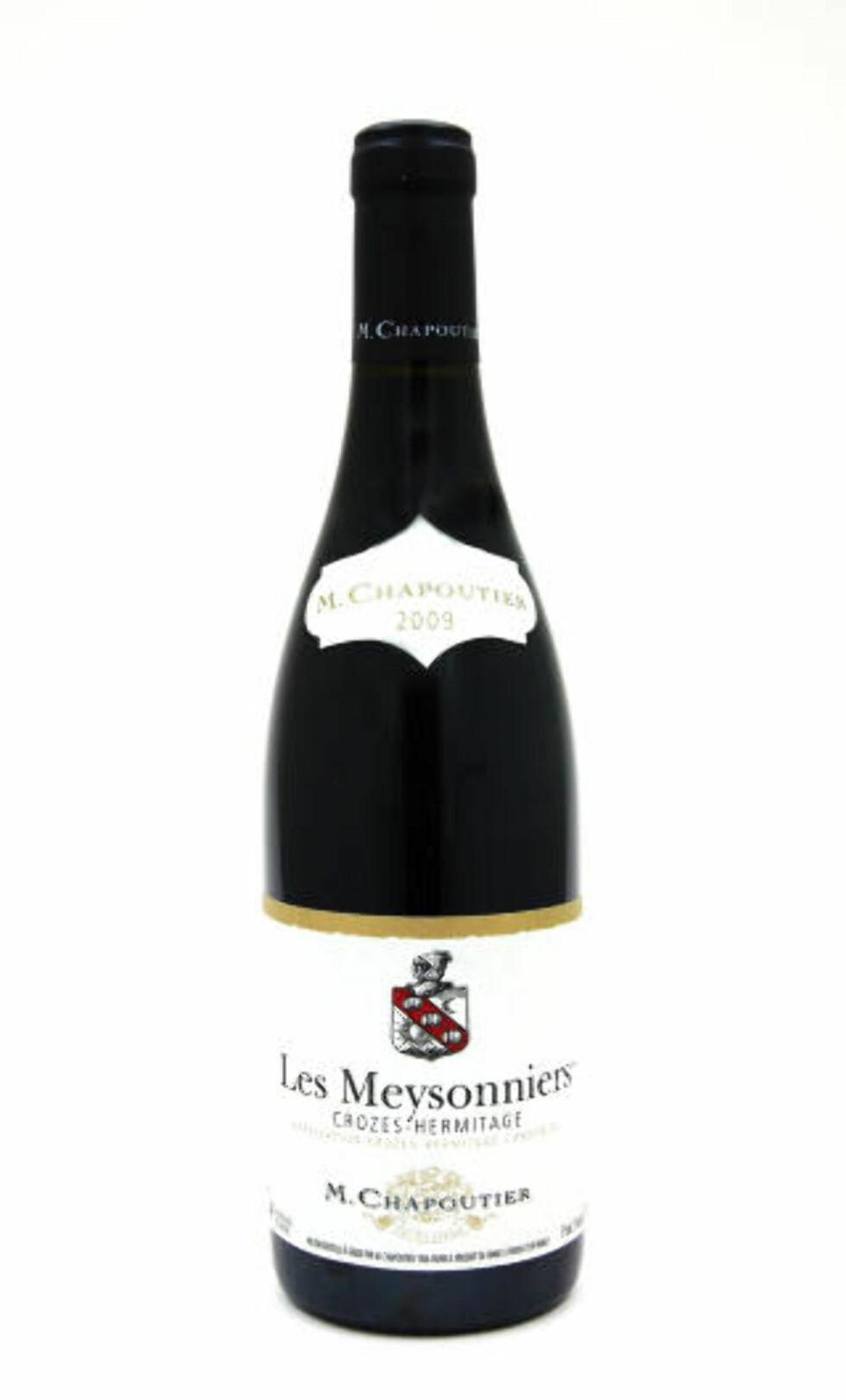EN FRANSK SEKSER: Chapoutier Les Meysonniers 2009, Crozes-Hermitage er en god fransk vin fra Rhônedalen.
