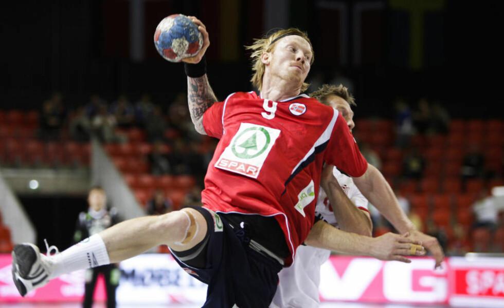 TILBAKE: Viktige Børge Lund var tilbake på banen da Norge tok en enkel seier mot Sveits i oppkjøringen til VM.Foto: Morten Rakke / Scanpix
