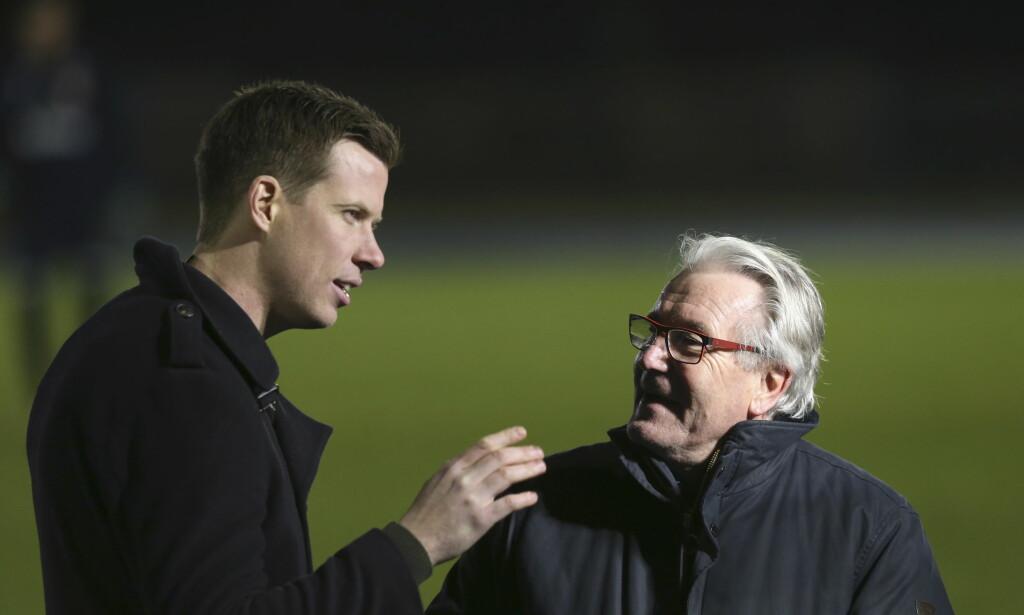 DUO: Jesper Mathisen har fulgt landslaget tett sammen med Davy Wathne for TV 2 denne uka. Foto: Vidar Ruud / NTB Scanpix