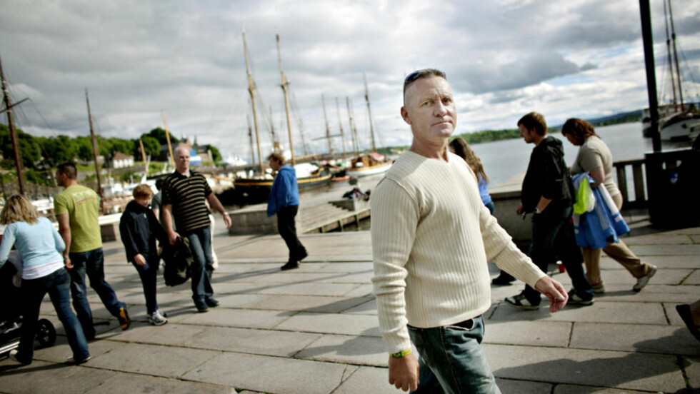 NYTER FRIHET I OSLO: Geir Pettersborg er døm til ni år og fire måneders fengsel, nå er han på ferie i Oslo. —?Jeg reiser tilbake til Brasil for å bli renvasket, sier Pettersborg som er glad for å være tilbake i Norge. Foto: Torbjørn Grønning