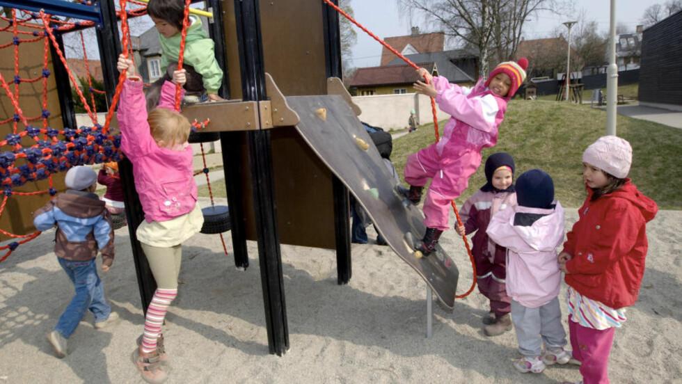 <strong>IKKE ALLE:</strong> Noen foreldregrupper velger å ikke ha barna sine i barnehagen. Foto: Scanpix