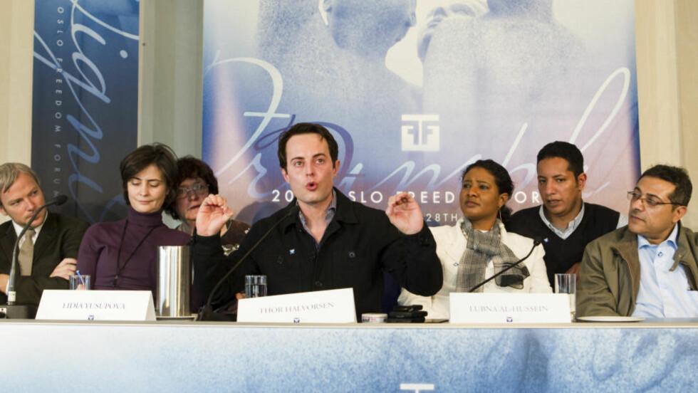 KRITISK: Vi var lammet av frykt undet kuppet i Venezuela i 2002, skriver kronikkforfatteren som nå bor i Norge. Han kritiserer Oslo Freedom Forum, ledet av Thor Halvorssen (bildet), for å ha invitert kuppmakere til Oslo.  Foto: Scanpix