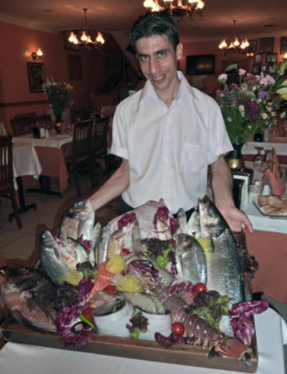 FERSKT: Det tyrkiske kjøkkenet er utropt til å være i verdenstoppen. Fisken er både fersk og god - i bredt utvalg.