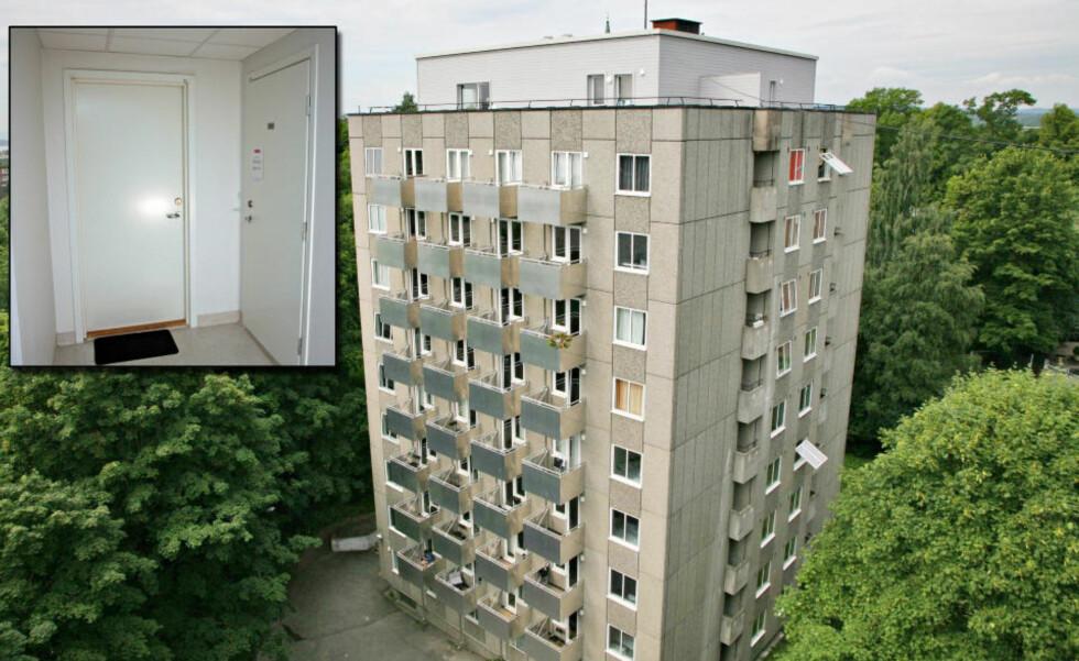 BODDE INNENFOR SYKEHUSET: Terrorsiktede Mikael Davud (39) bodde her i 7. etasje. Foto: Truls Brekke/Dagbladet