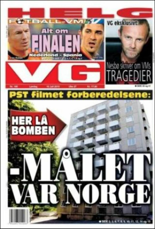 AVVISER VIDEOOVERVÅKNING: PST avviser VGs opplysninger om at hysjpolitiet videoovervåket den antatte hovedmannens leilighet. (Faksimile av VG, 10.07.2010)
