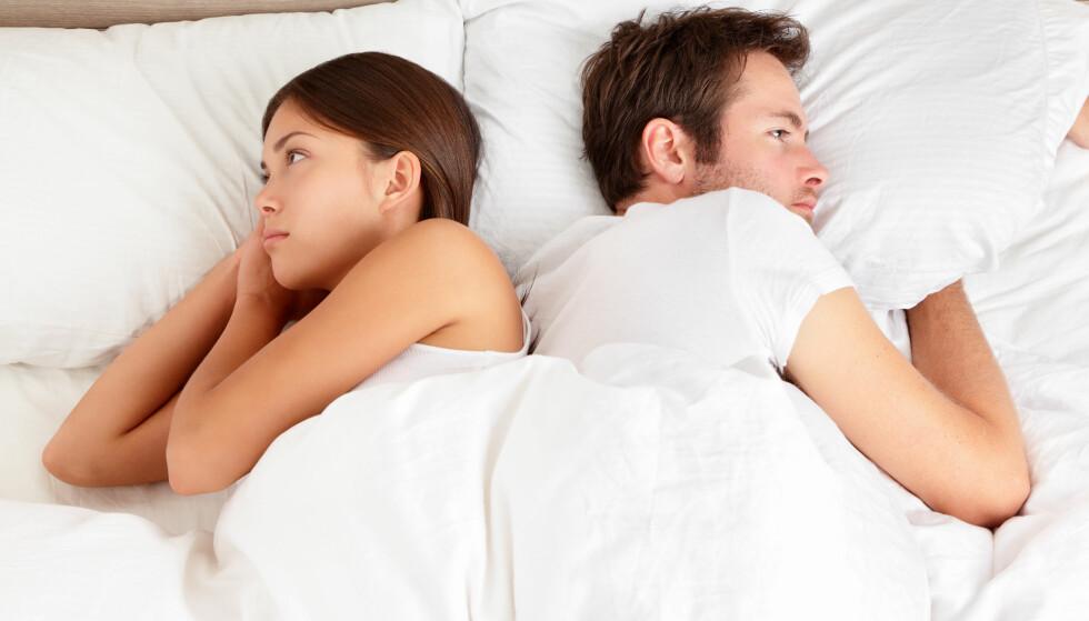 KROPPSFIKSERT: Kvinnens oppfatning av sin egen kropp er en annen faktor som kan hemme tilstedeværelsen i en seksuell situasjon. Foto: SHUTTERSTOCK / NTB SCANPIX
