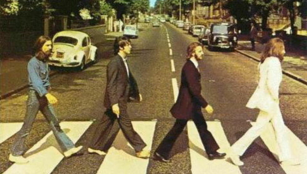IKKE PÅ ITUNES: Gutta som gjorde Abbey Road verdenskjent, George Harrison, Paul McCartney, Ringo Starr og John Lennon, vil ikke bli å finne på Itunes.