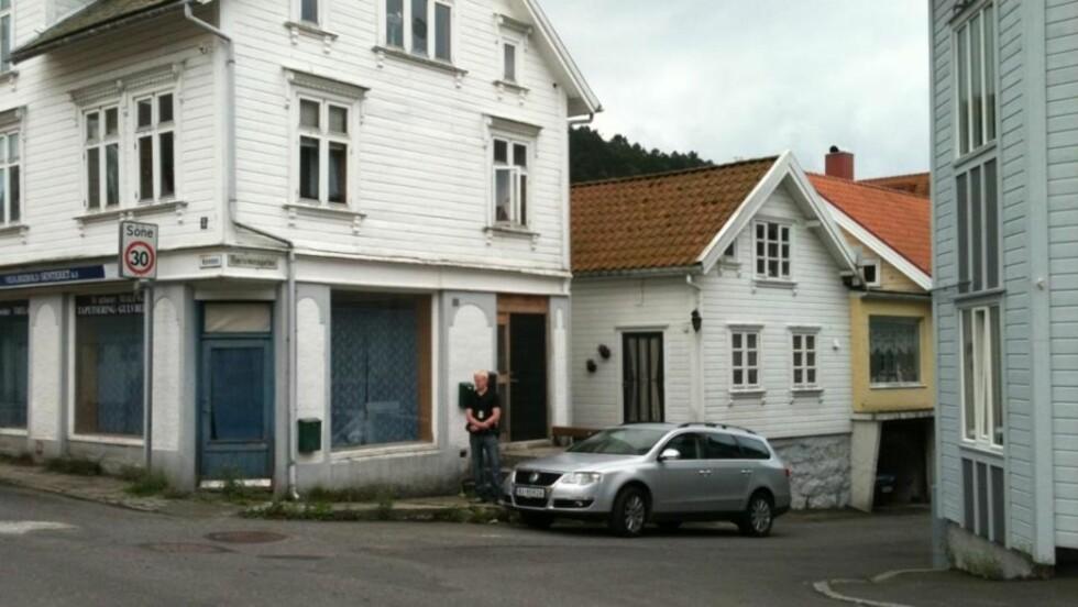 DRAP: Politiet i Rogaland etterforsker et mulig drap i Egersund. Politiet har pågrepet en mann med relasjoner til kvinnen, som selv meldte ifra. Foto: Karsten Valand