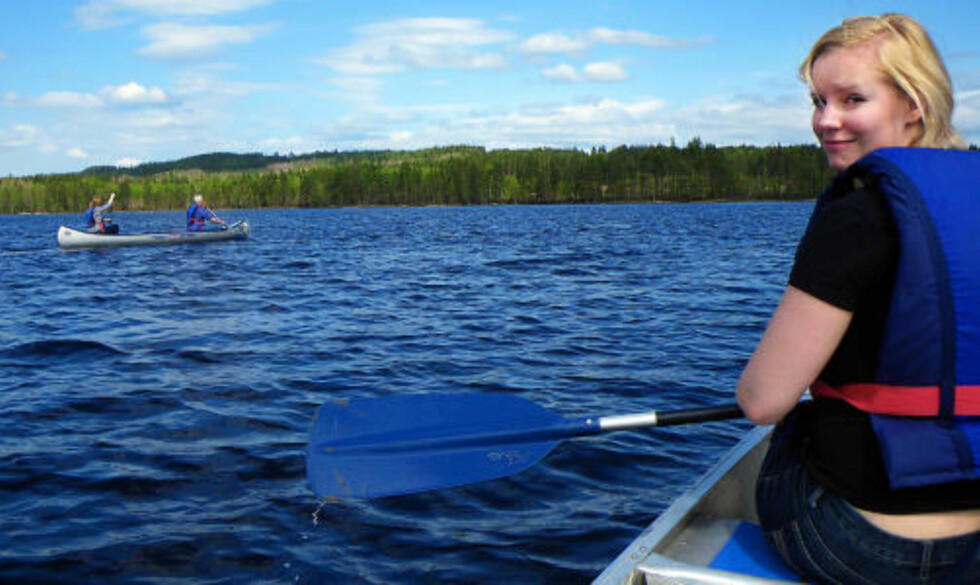 ÖVRE GLA:   Dette er et fint vann for nybegynnere, når dere kommer til Stora Gla bør dere holde dere langs land, det kan plutselig blåse opp, sier Anna Ingman, fra  Glaskogens Naturreservat.  Foto: Kirsten M. Buzzi/Dagbladet