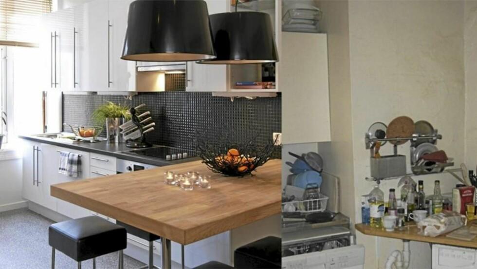 <strong>FRA GAMMELT TIL NYTT:</strong> Kjøkkenet ble totalrenovert - og eieren fikk et helt nytt kjøkken. Foto: Espen Grønli/Privat
