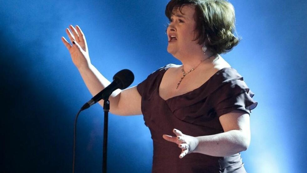 LYKKELIG: - Å synge for paven er noe jeg alltid har drømt om, sier katolske Susan Boyle til CNN. 16. september går drømmen i oppfyllelse. EPA/CASPER CHRISTOFFERSEN