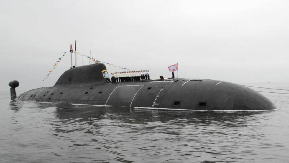 JEGEREN: En spesialutgave av russernes Akula-ubåter skal jage fremmede ubåter ved å spore motpartens akustiske signatur. Foto: SCANPIX