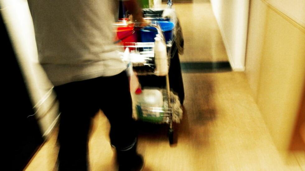 TØFF HVERDAG: Ifølge Fellesforbundet må renholdere ved en rekke Oslo-hoteller vaske 30 prosent flere hotellrom pr dag etter at ISS overtok renholdsoppdragene. Foto: Truls Brekke / Dagbladet