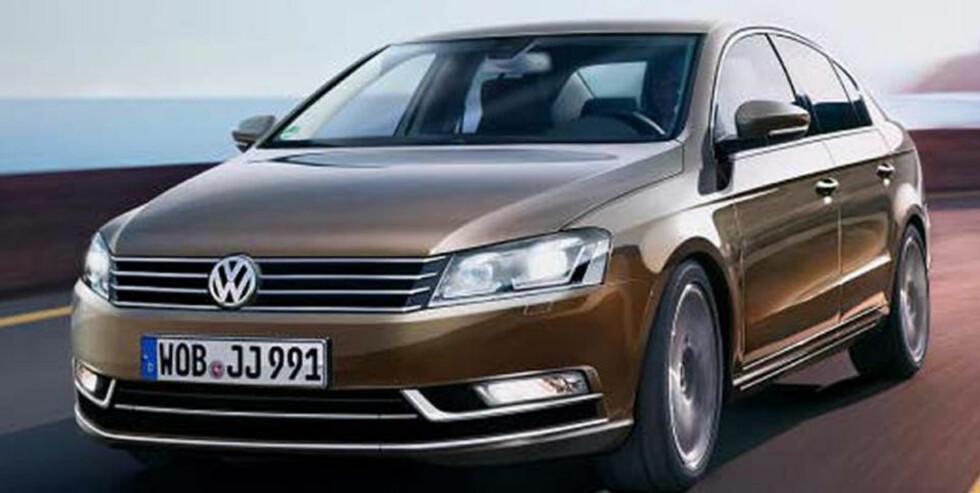 AVSLØRT: Slik blir den nye VW Passat! Sedanen og stasjonsvogna kommer om tre måneder. FOTO: Volkswagen