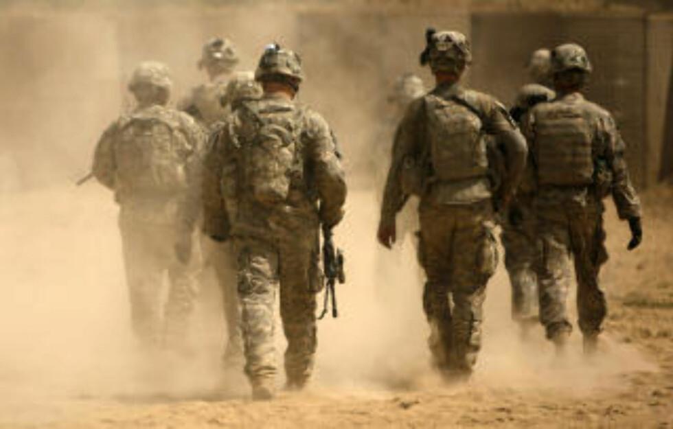STRIDSSONE: Amerikanske soldater i Kandahar-provinsen, der overgrepene skal ha skjedd. Foto: AFP/Scanpix