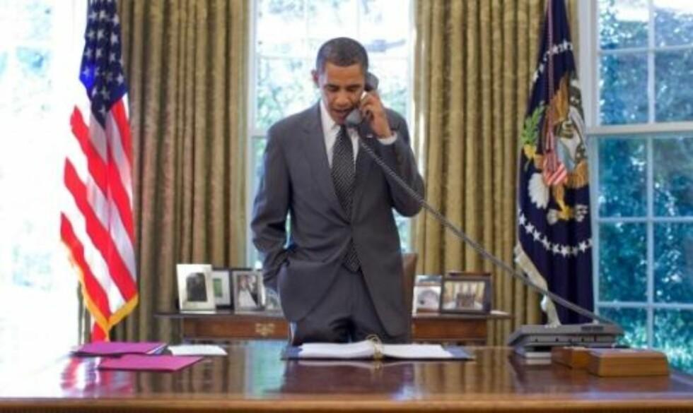 SLO PÅ TRÅDEN: Barack Obama under samtalen med Salvatore Giunta, der soldaten fikk vite at han mottar den høyeste utmerkelsen i det amerikanske forsvaret. Foto: whitehouse.gov