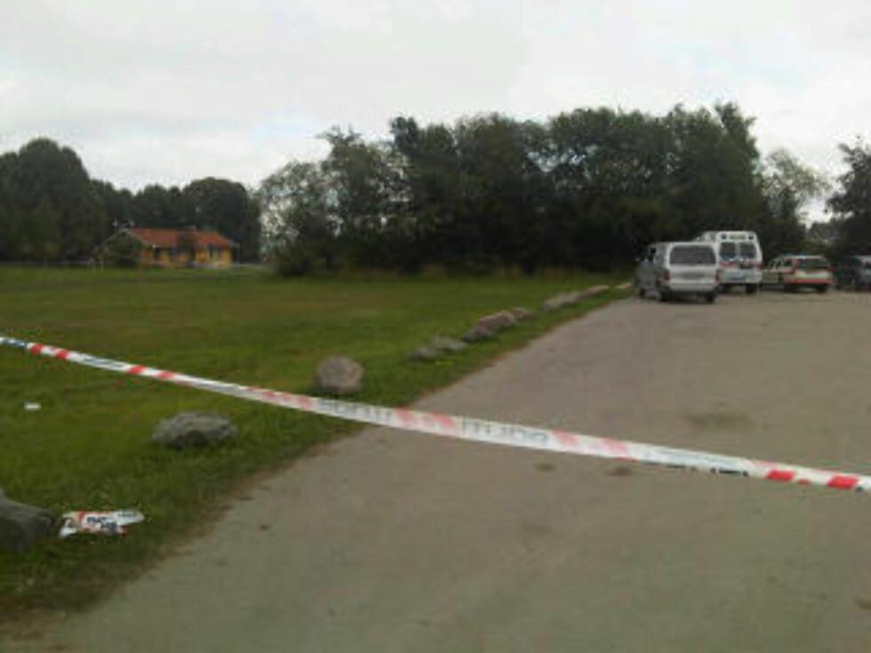 AVSPERRET: Politiet har sperret av et stort område på Ekeberg. Foto: Anne Marte Blindheim