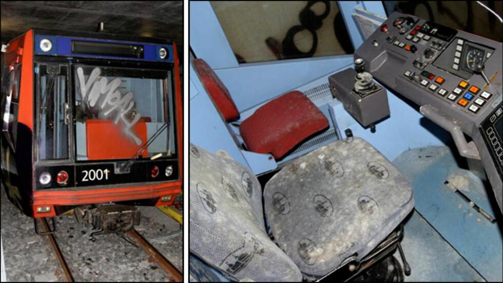 ENNÅ IKKE NEDBETALT: T-banetogene T2000 ble tatt i bruk i 1995, men var teknisk ustabile. Allerede 1. mai i fjor ble de tatt ut av trafikk. Foto: Oslo T-banedrift AS