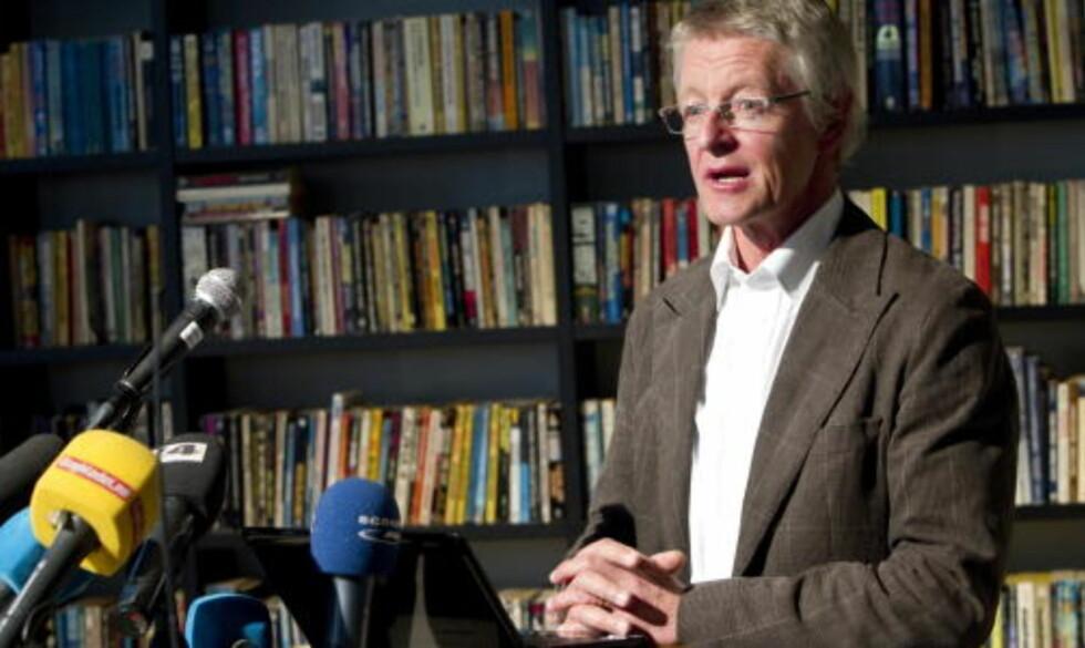 FORNØYD: Advokat Harald Stabell etter dagens avgjørelse.  Foto: Terje Bendiksby / Scanpix .