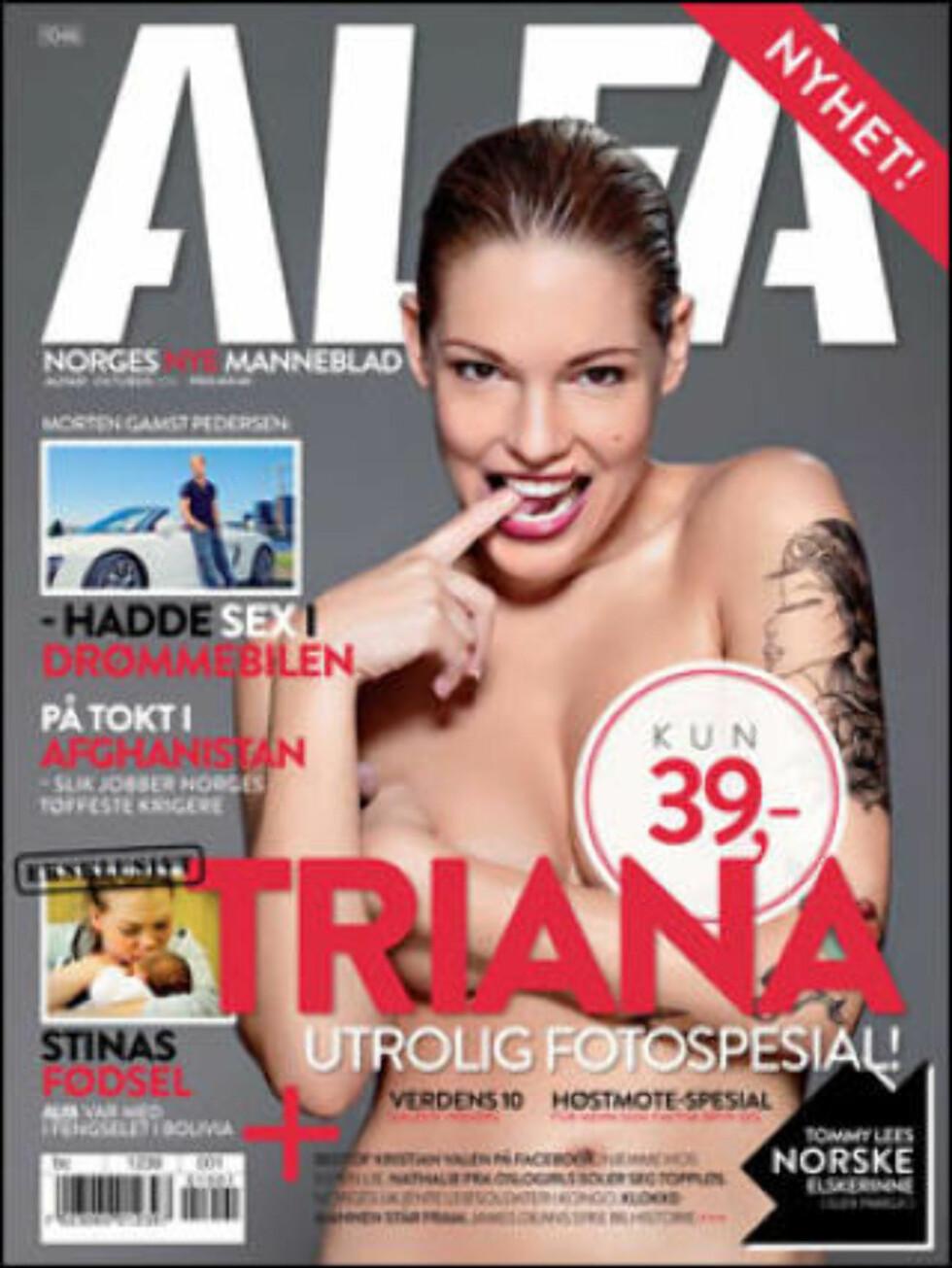 FAKSIMILE: Det nye herremagasinet Alfa kommer i salg fredag 1. oktober.