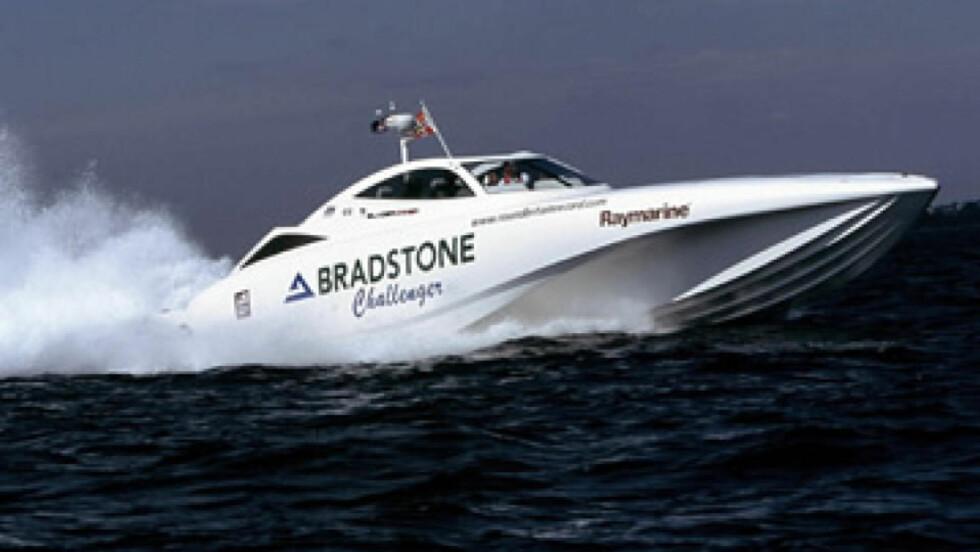 OMSTRIDT BÅTSALG: Salget av denne superraske båten til Iran i 2009 skaper trøbbel for Fredskorpsets sørafrikanske partner Icarus Marine, og for Fredrikstad-selskapet Icarus Design as.
