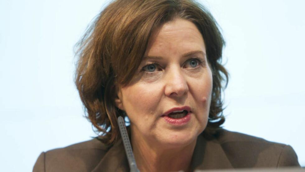 VIL AVSLØRE FLERE Arbeidsminister Hanne Bjurstrøm ber NAV styre innsasten mot trygdeavindel med fem millioner kroner. Foto: Berit Roald /SCANPIX
