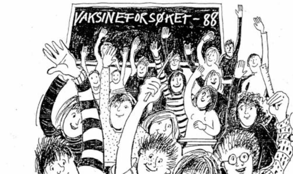 GIGANTFORSØK: Mellom 1988 og 1991 ble 180 000 ungdomsskoleelever vaksinert mot hjernehinnebetennelse. Foto: Folkehelseinstituttet