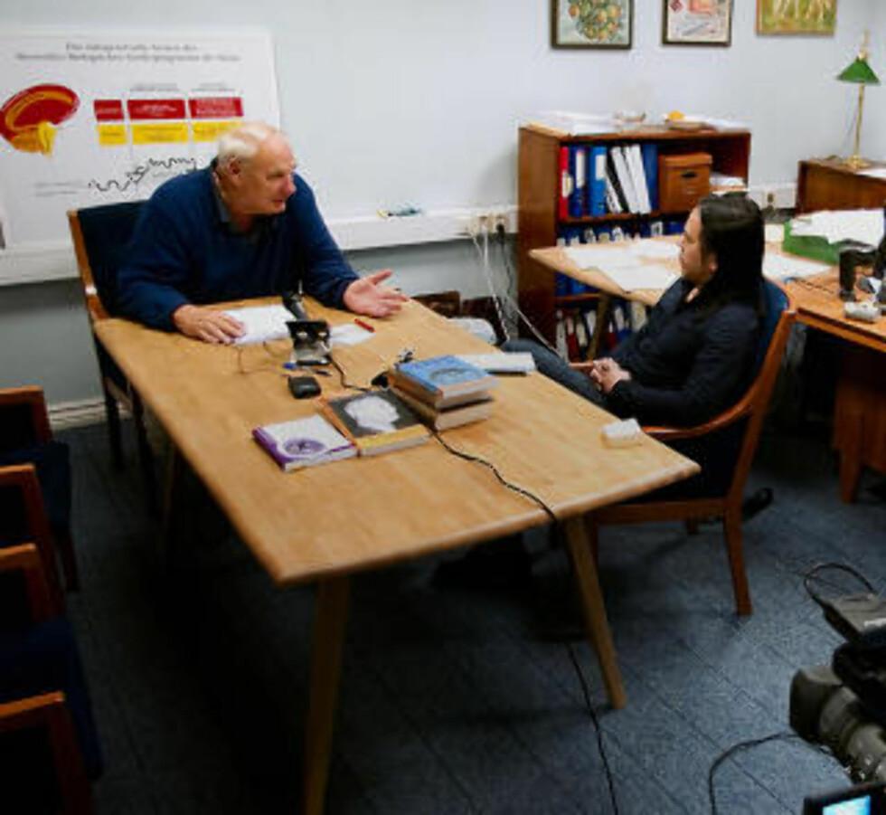 VILLE IKKE SVARE: Da Dagbladet møtte Hamer til intervju sist fredag, nektet han å svare på kritiske spørsmål, og krevde dessuten fullstendig redaksjonell kontroll over intervjuet. Det kunne ikke Dagbladet gå med på, og forlot intervjuet med uforrettet sak. Til dagens artikkel ga han imidlertid en kort kommentar. Foto: BJØRN LANGSEM/DAGBLADET