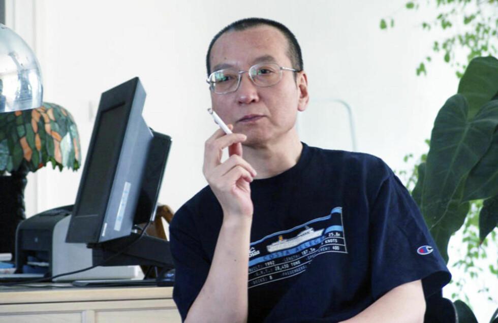 FREDSPRISVINNER I FENGSEL: Liu Xiaobo (54) sitter i kinesisk fengsel på grunn av sin regimekritikk. Foto: Handout/Reuters